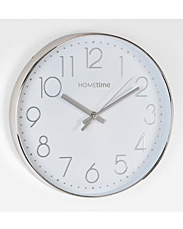 Hometime Wall Clock with Chrome Numbers
