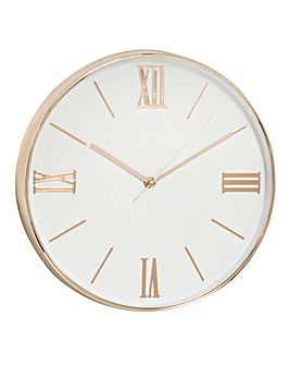 Hometime Wall Clock with Gold Numbers