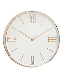 Hometime Wall Clock Copper & White Dial