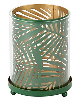 Amazonia Green Tealight Holder Palm Leaf