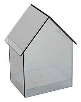 Smoked Glass House LED House 24cm
