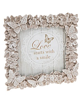 Floral Butterfly Photo Frame 4x4