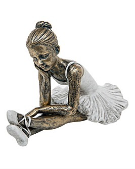 Posed Ballerina Crossed Legged