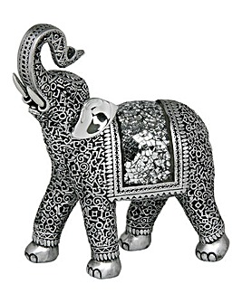 Silver Elephant Curly Trunk