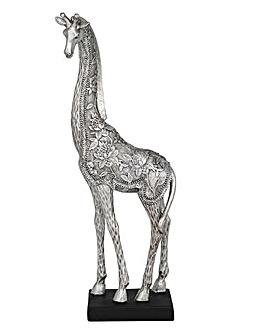 Silver Fleur Giraffe