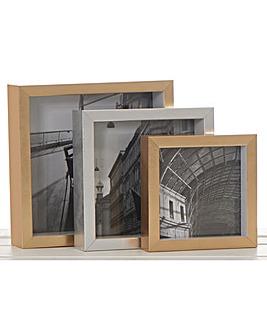 3 Nesting Square Frames- Gold