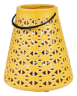 Sunburst Ceramic Lantern
