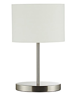 Chrome Oval Touch Table Lamp