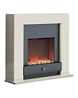Warmlite Chichester Ivory Fire Suite