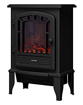 Warmlite 2kW LED Black Stove Fire
