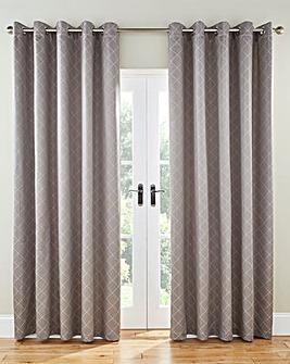 Trella Diamond Eyelet Lined Curtains