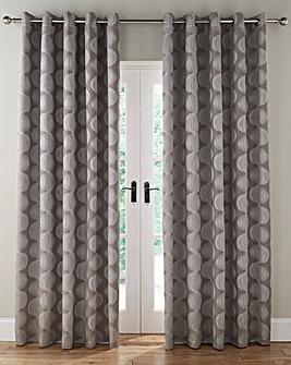 Astoria Jacquard Lined Eyelet Curtains