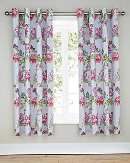 Chrysanthemum Lined Eyelet Curtains