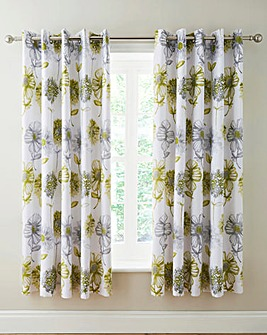 Banbury Floral Lined Eyelet Curtains