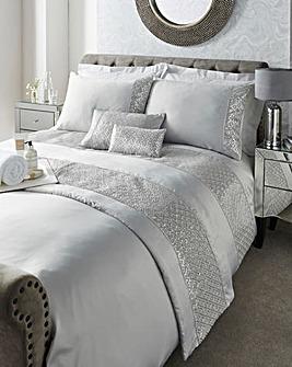 Shimmer Embellished Duvet Cover Set
