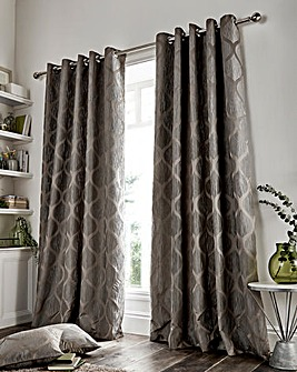 Griffin Geo Lined Eyelet Curtains
