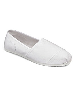 Canvas Slip On Espadrille