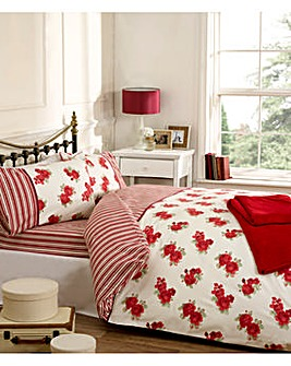 cascade home vintage rose duvet set