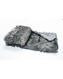 cascade home luxury faux mink throw