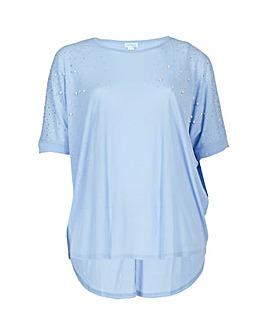 Blue Vanilla Curve Pearl T-Shirt