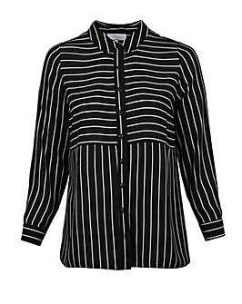 Lovedrobe GB Stripe Longline Shirt