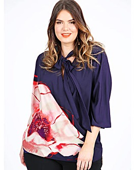 Lovedrobe GB Poppy Print Wrap Top