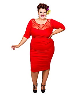 Scarlett & Jo Mesh Bodycon Dress