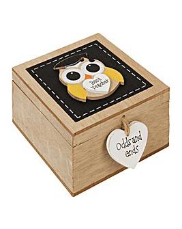 MDF Trinket Box with Owl Best teacher