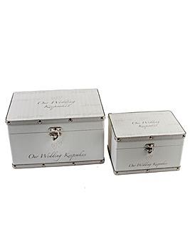 Amore set of 2 Wedding Keepsake Boxes