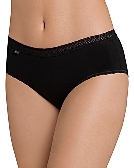 Sloggi Evernew Lace Midi Briefs Black