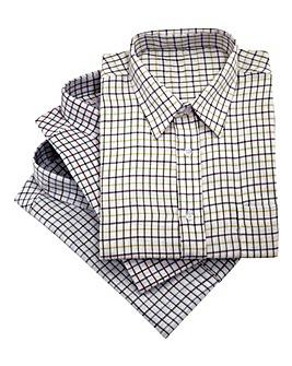 Cotton Tattersall Shirts Pack of 3