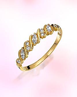 9 Carat Gold Cubic Zirconia Ring