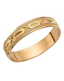 9ct Gold Ladies Wedding Band
