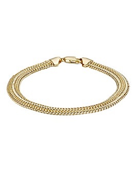 9 Carat Gold Slinky Domed Bracelet