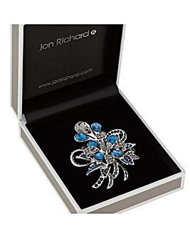 Jon Richard Peardrop Flower Brooch