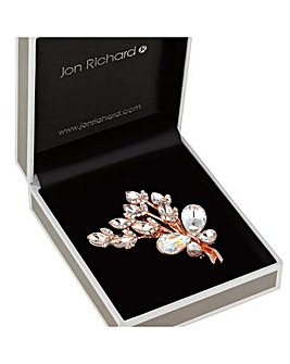 Jon Richard Butterfly Flower Brooch