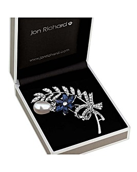 Jon Richard Floral Bouquet Brooch