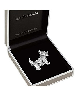 Jon Richard Scotty Dog Brooch
