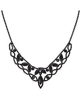 Mood Jet Diamante Collar Necklace