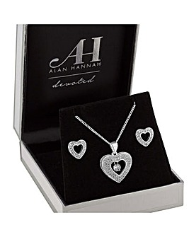 Alan Hannah Heart Jewellery Set
