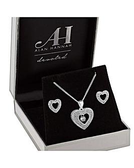 Alan Hannah Heart Jewellery Set