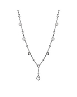 Alan Hannah Halo Peardrop Necklace