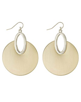 Mood Brushed Metal Disc Earring