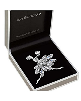 Jon Richard Crystal Ballerina Brooch