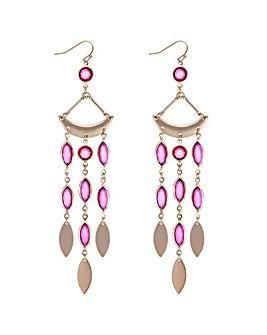 Mood Pink Crystal Chandelier Earring