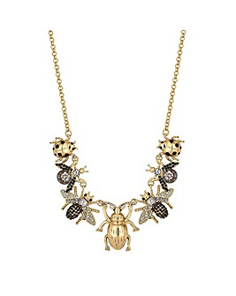 Mood Crystal Bee Charm Necklace