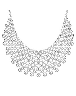 Mood Silver Bib Necklace