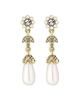 Alan Hannah Floral Pearl Drop Earring