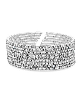 Jon Richard Crystal Diamante Cuff Bangle