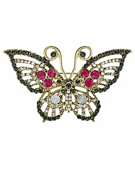 Mood Crystal Butterfly Brooch